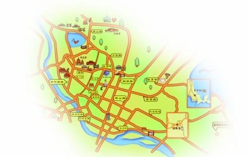 手绘美食地图泉州市