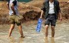 郑州路面无雨也积水