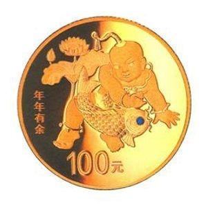 8克圆形精制金质纪念币背面图案