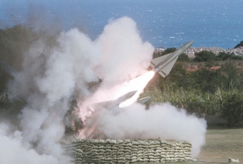 鹰式防空导弹(台湾《联合报》资料照片)