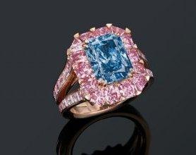 3.98克拉蓝钻戒指将香港拍卖
