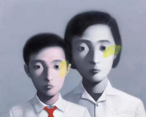 张晓刚《血缘:大家庭系列》 成交价:1050万港币