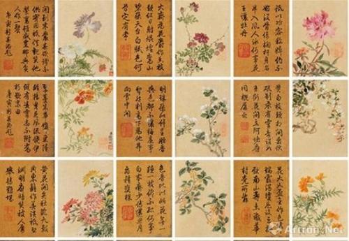 钱维城《四季花卉册》 成交价:935万港币