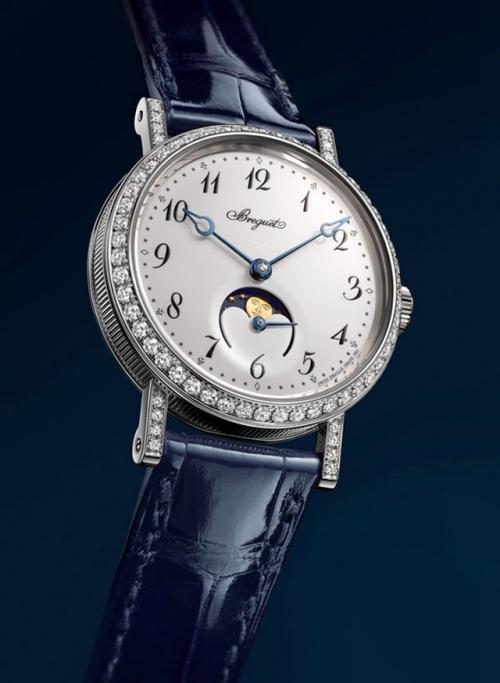 宝玑经典系列ClassiquePhase de Lune Dame 9088 女士月相腕表,