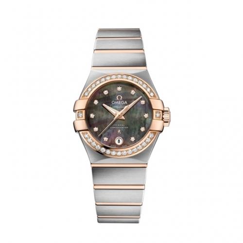 欧米茄星座系列大溪地贝母表盘腕表,