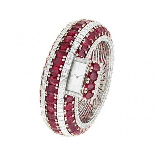 梵克雅宝Rubis Secret高级珠宝腕表,