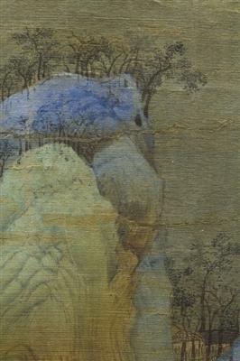 图6 《千里 江山》山体林木
