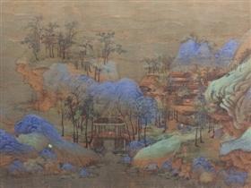 图12 《千里江山》的每个局部几乎都是独幅作品
