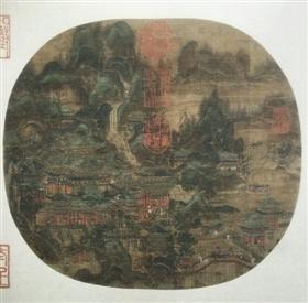 图3 李思训(传)《九成宫避暑图》,北京故宫博物院藏