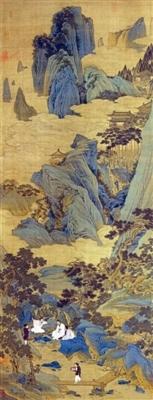 图9 仇英《桃源仙境图》与《千里 江山》有承续关系