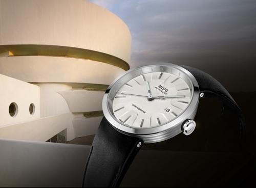 """瑞士美度表""""灵感源于建筑"""" 限量款腕表 m034.408.16.261.00 - 公关图,图片来源MIDO。"""