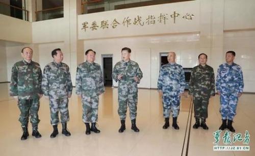 △ 习近平视察军委联合作战指挥中心