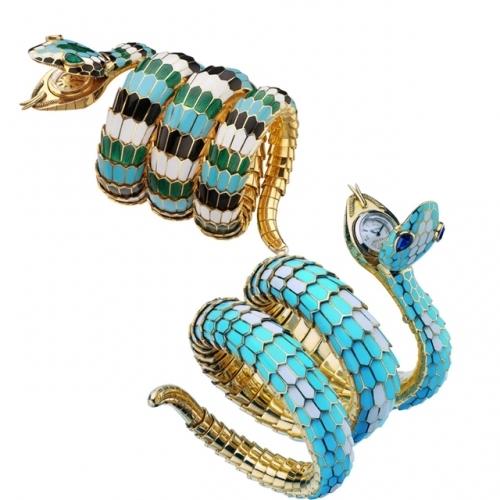 serpenti珠宝表,图片来源宝格丽。