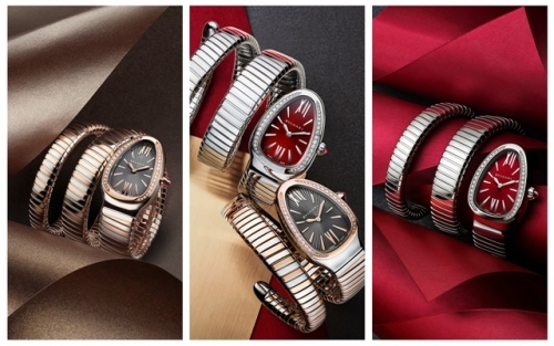 2017新款Serpenti Tubogas腕表,图片来源宝格丽。