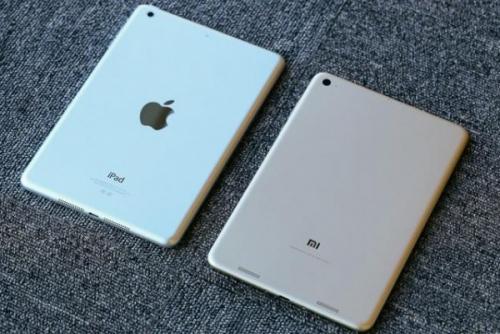 苹果iPad与小米Mi Pad对比图