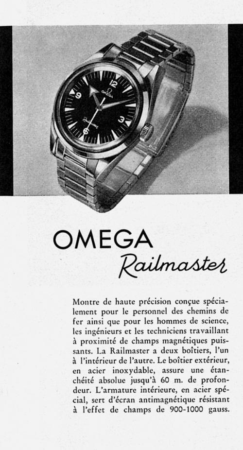 1957年首款欧米茄铁霸腕表海报,图片来源omega。