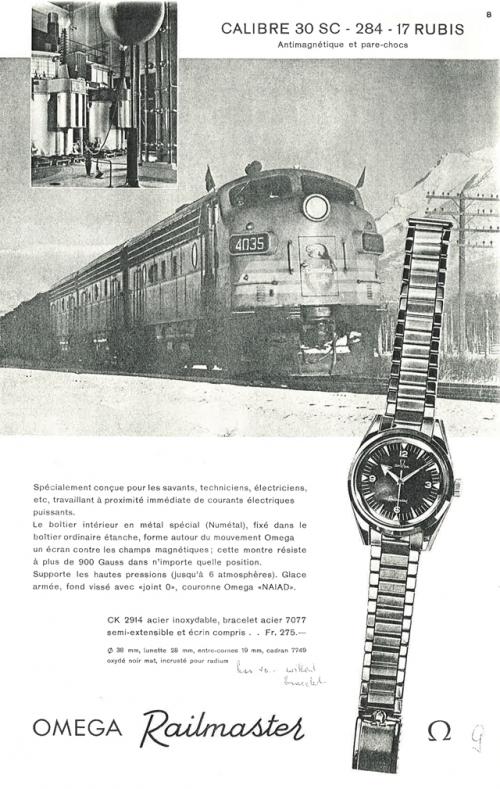 1959年欧米茄铁霸腕表海报,图片来源omega。
