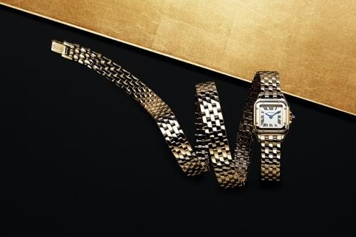 卡地亚Panthère de Cartier猎豹腕表三圈款,图片来源卡地亚。