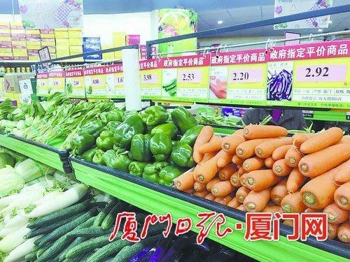 政府指定平价商品,稳定蔬菜价格。(本报记者 沈彦彦 摄)