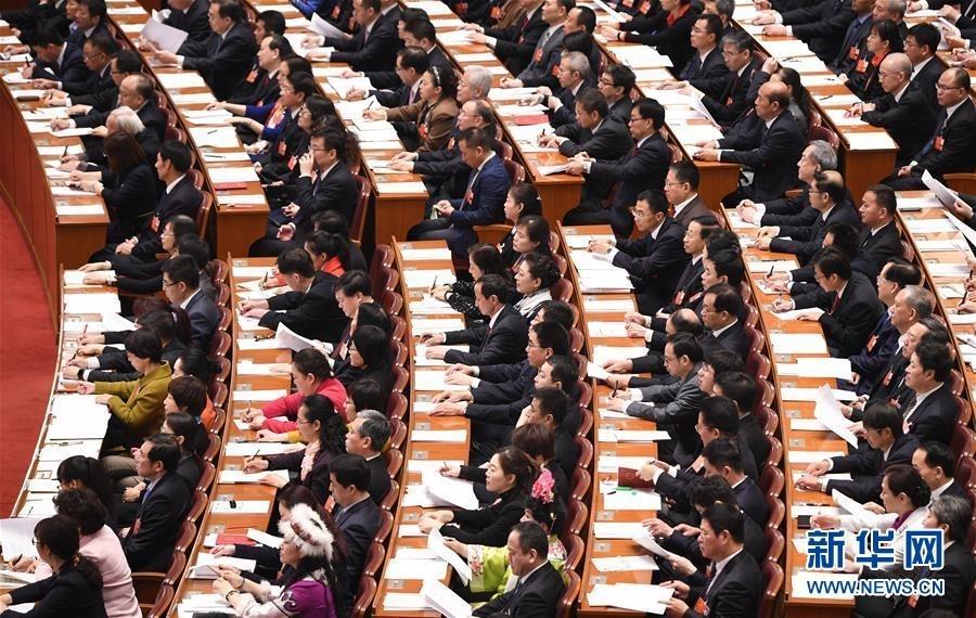 3月13日,十三届全国人大一次会议在北京人民大会堂举行第四次全体会议。 新华社记者 王建华 摄