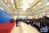 3月20日,国务院总理李克强和副总理韩正、孙春兰、胡春华、刘鹤在北京人民大会堂与中外记者见面,并回答记者提问。 新华社记者 庞兴雷摄