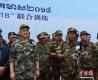 图为中国人民解放军陆军副司令员周松和(左)、柬埔寨副首相兼国防大臣迪班亲王(右)结训后接受记者采访。 中新社发 联演中方指导组供图
