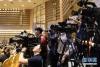 4月10日,博鳌亚洲论坛2018年年会在海南省博鳌开幕。这是记者在开幕式上采访。 新华社记者 邢广利 摄