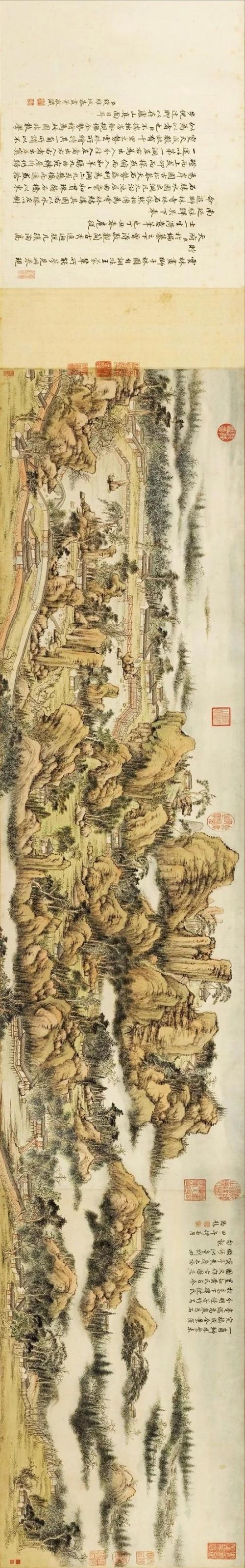 钱维城《狮子林图卷》,加拿大阿尔伯特博物馆藏