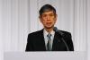 日本自民党副总裁高村正彦做主旨演讲(许永新 摄)