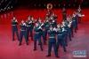 4月24日,吉尔吉斯斯坦共和国武装力量中央俱乐部军乐团在军乐节开幕式上表演。