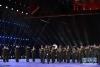 4月24日,白俄罗斯共和国武装力量模范演出军乐团在军乐节开幕式上表演。