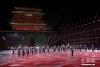 图为俄罗斯联邦东部军区军乐团演出。
