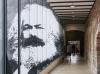 5月3日在德国特里尔市立西麦翁博物馆拍摄的马克思主题展入口。新华社记者单宇琦摄