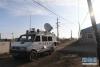 松原城区震感强烈抗震救灾工作人员在吉林省松原市宁江区毛都站镇牙木吐村工作(5月28日摄)。