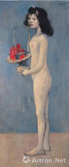 毕加索的《拿花篮的女孩》(1905年)。图片:致谢佳士得