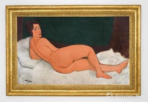莫迪利亚尼,《侧卧的裸女》(1917年)。图片:致谢苏富比