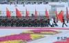 这是6月6日在欢迎仪式上拍摄的三军仪仗队。目前,仪仗队总人数由此前最大规模时的151人增加到224人。新华社记者 饶爱民 摄