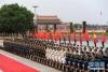 这是6月6日在欢迎仪式上拍摄的三军仪仗队。目前,仪仗队总人数由此前最大规模时的151人增加到224人。新华社记者 陈晔华 摄