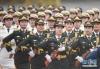 这是6月6日在欢迎仪式上拍摄的女兵方阵。三军仪仗队中首次增加女兵方阵是此次改革的一大亮点。 新华社记者 陈晔华 摄