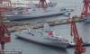 中国2艘055型万吨级驱逐舰在大连同时下水【1】