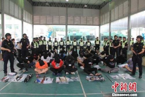 广东警方抓获嫌犯。 警方供图 摄