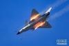 中国空军歼—10A歼击机进行飞行训练,备战国际军事比赛(7月11日摄)。新华社发(杨盼 摄)