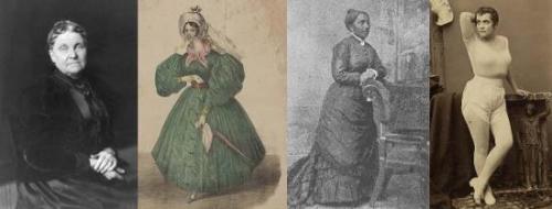 从左至右依次为赫蒂·格林、海伦杰·维特,伊丽莎白·詹宁斯·格雷厄姆和阿代·艾萨克斯·孟肯