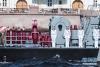 7月29日,在俄罗斯圣彼得堡,战舰接受检阅。