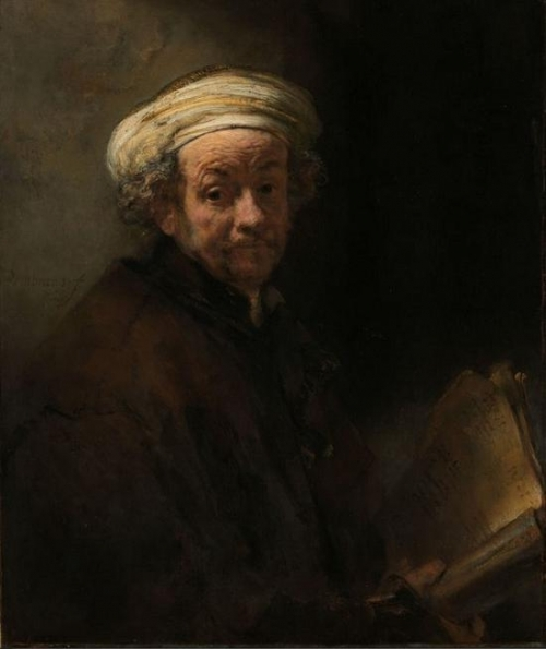 荷兰 伦勃朗 《扮成使徒保罗的自画像》 1 661。 COURTESY- RIJKSMUSEUM, AMSTERDAM