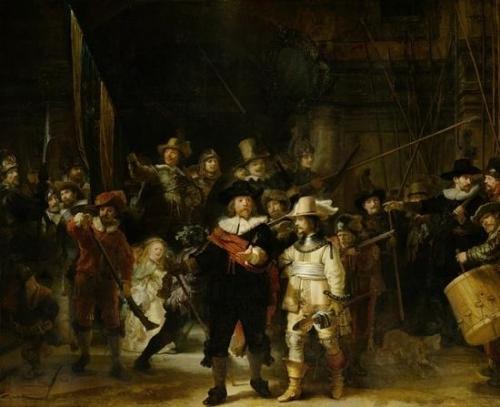 荷兰 伦勃朗 《夜巡》 1642。 RIJKSMUSEUM, AMSTERDAM
