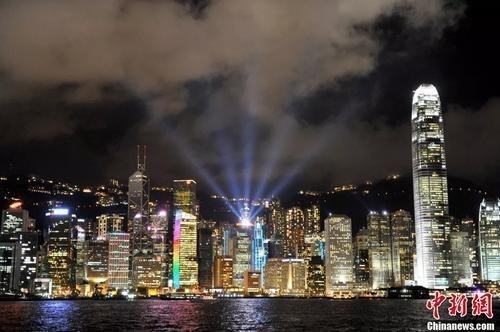 资料图:香港夜景。王东明 摄