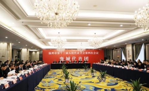 浙江省温州市第十三届人民代表大会第四次会议鹿城代表团全体会议  鹿城区新闻中心提供