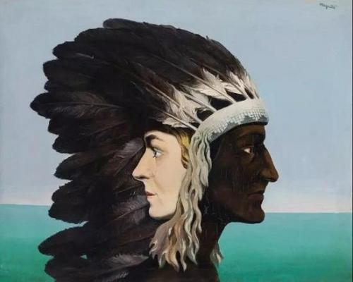 雷内·玛格利特,《晨星》,布面油画,1938年作