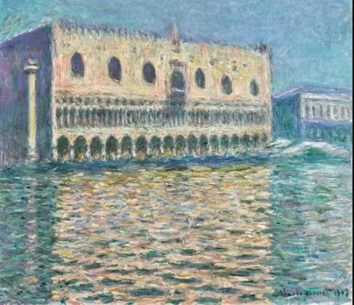 克劳德·莫奈,《总督宫》,布面油画,1908年作